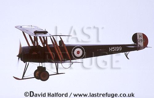 Avro 504K, (H5199), landing, Shuttleworth Collection, Old Warden, UK / U.K., UK, October 2003