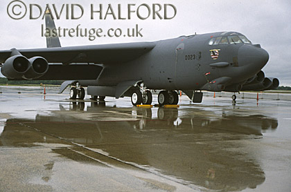 Boeing B-52H / B.52H / B52H Stratofortress, (MT/0023), Joint Services Open House, Air Combat Command (ACC), USAF, on static, Andrews Air Force Base (AFB), Maryland (MD), USA, May 2001