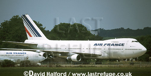 Boeing 747-100 / B.747-100 / B-747-100, Air France, in store, Paris Air Show, Le Bourget, France, June 2001