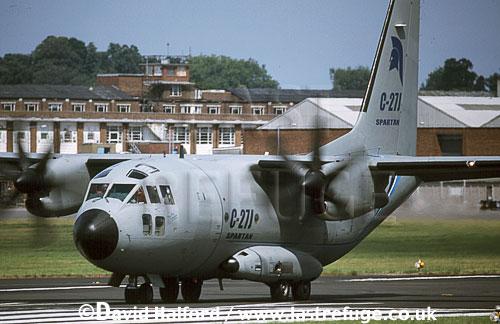 Alenia C-27J / C.27J / C27J Spartan, demonstrator aircraft, taking off, Farnborough, UK, date ?
