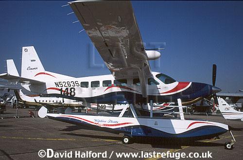 Cessna Caravan Amphibian, (N5263S), on static, Paris Air Show, Le Bourget, France, June 2001