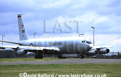Boeing E-8C / E.8C / E8C J-Stars, (97-0201/WR), 12th Air Combat Command (ACC)S/93rd ACW, USAF, taxying, RAF Waddington, UK, June 2002