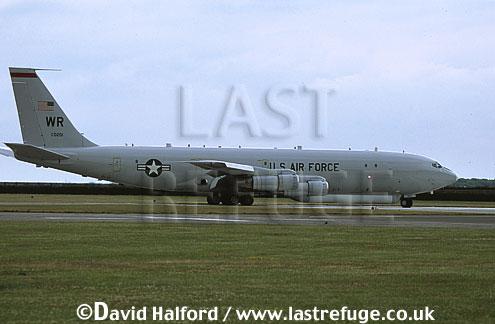 Boeing E-8C / E.8C / E8C J-Stars, (97-0201/WR), 12th Air Combat Command (ACC)S/93rd ACW, USAF, taxying, RAF Waddington, UK, June 2002