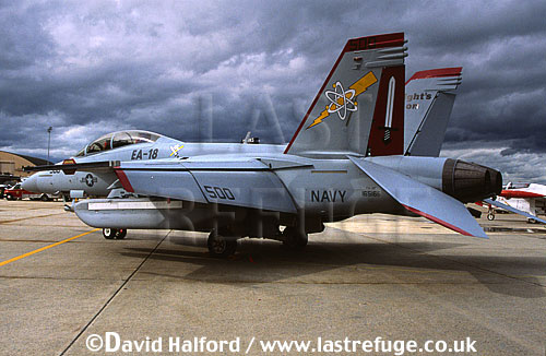 Boeing EA-18G / EA.18G / EA18G Growler, (165166/500), Boeing demonstrator, US Navy, Joint Services Open House, Andrews Air Force Base (AFB), Maryland (MD), USA, May 2002