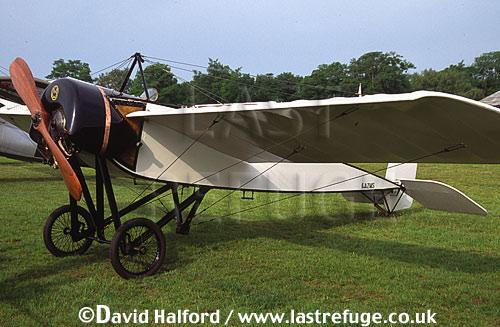 Morane-Saulnier H, (F-AZMS), (replica of the 1913 aircraft), parked, La Ferte Alais, France, June 2003