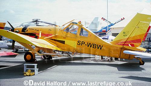 PZL Warsawa PZL-106 BTU-34 / P.Z.L.106 BTU-34 / PZL106 BTU-34 Turbo Kruk (Raven), (SP-WPW), on static, Paris Air Show, Le Bourget, France, June 2001