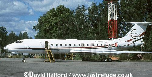 Tupolev Tu-134A-3 / Tu.134A-3 / TU134A-3 Crusty, (RA-65005), Rus Air, Scheremetyvo Airport, Moscow, Russia, August 2001