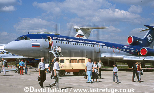 Tupolev Tu-154M / Tu.154M / TU154M Careless, Gromov Flight Research Institute, on static, MAKS, Zhukovsky, Russia, August 2001