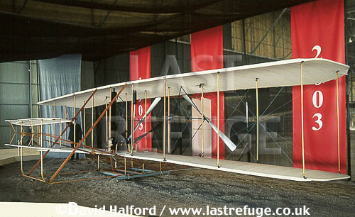 Wright Flyer, (modern replica), on static, Air Museum, Moron, Argentina, April 2004