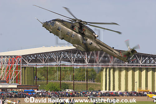 AgustaWestland Merlin HC.3 (ZJ127) flying, Imperial War Museum (IWM), Duxford, U.K. / UK - June 2005