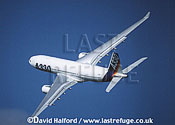 Airbus A.330-243 / A-330-243 / A330-243 demonstrator aircraft flying, Farnborough, UK, September 1998