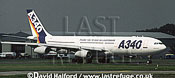 Airbus A.340 / A-340 / A340 demonstrator aircraft taxying - Farnborough, UK, September 1996