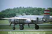 North American B-25 Mitchell, 'Panchito', taxying, Naval Air Station (NAS) Patuxent River, Maryland (MD), USA, May 2001