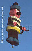 Cameron balloon, Licorice Allsorts, tethered, Royal International Air Tattoo (RIAT), RAF Fairford, UK, date ?