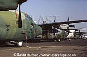 Lockheed C-130H / C.130H / C130H Hercules, US ANG (Air National Guard) (Georgia), on static, Royal International Air Tattoo (RIAT), RAF Fairford, UK, July 1999