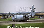 Lockheed EC-130E / EC.130E / EC130E Hercules, (63-7828), US Air National Guard (ANG) (Pennsylvania), taking off, Royal International Air Tattoo (RIAT), RAF Cottesmore, UK, July 2001