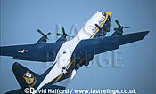 Lockheed C-130H / C.130 H/ C130H Hercules, US Navy's Blue Angels' 'Fat Albert Airlines', JATO take off, Naval Air Station (NAS) Patuxent River, Maryland (MD), USA, May 2003