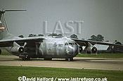 Lockheed C-141B / C.141B / C141B Starlifter, 155th AS Tennessee Air National Guard (ANG), taxying, Royal International Air Tattoo (RIAT), RAF Cottesmore, UK, July 2001
