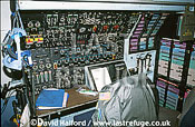 Lockheed C-5B / C.5B / C5B Galaxy, flight engineer's position in cockpit, Air Mobility Command (AMC), USAF, on static, Naval Air Station (NAS) Patuxent River, Maryland (MD), USA, May 2001