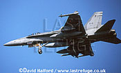 Boeing (McDonnell Douglas) CF-18A / CF.18A / CF18A Hornet, Canadian Forces, landing, Aviano Air Force Base (AFB), Italy, May 1999