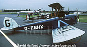 De Havilland D.H.53 / DH-53 / DN53 Humming Bird, (G-EBHX), parked, from Shuttleworth Collection, Farnborough, UK, July 2000