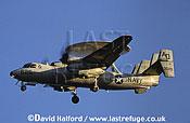 (Northrop) Grumman E-2C / E.2C / E2C Hawkeye, (AO/3029/625), US Navy, landing, Naval Air Station (NAS) Oceana, Virginia (VA), USA, May 2003