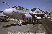 Grumman EA-6B / EA.6B / EA6B Prowler, (501), US Navy (USN), on static, on CV-67 USS John F. Kennedy, Fleet Week, New York City, New York (NY), USA, May 2002