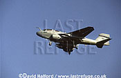 Grumman EA-6B / EA.6B / EA6B Prowler, (544), US Navy (USN), landing, Aviano Air Force Base (AFB), Italy, June 1999