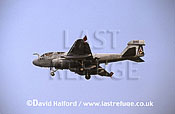 Grumman EA-6B / EA.6B / EA6B Prowler, (1607?/540), US Navy (USN), landing, Aviano Air Force Base (AFB), Italy, June 1999