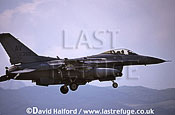 Lockheed (General Dynamics) Lockheed-Martin Lockheed-Martin F-16C / F.16C / F16C Fighting Falcon, (AV/87350), 31st FW, USAFE, landing, Aviano Air Force Base (AFB), Italy, May 1999