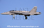 Boeing (McDonnell Douglas) F/A-18C / FA.18C / FA18C Hornet, (AJ/307), VFA-15 'Valions', landing, Naval Air Station (NAS) Oceana, Virginia (VA), USA, May 2002