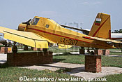 Let Z.37 / Z-37 / Z37 Cmelak (Bumblebee), (LZ-307), Bulgarian Air Force, on static, Plovdiv-Krumovo Aviation Museum, Bulgaria, August 2003
