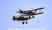 Royal Aircraft Factory S.E.5A / SE-5A / SE5A (F504) with Bristol Fighter, flying, Shuttleworth Collection, Old Warden, UK / U.K., UK, September 2004