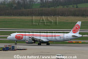 Airbus A.321-231 (OE-LOS) of Niki taxying at Flughafen Wien, Vienna's Schwechat Airport, Austria / April 2005