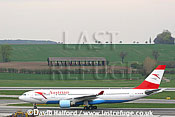 Airbus A.330-223 (OE-LAN) of Austrian Airlines taxying at Flughafen Wien, Vienna's Schwechat Airport, Austria / April 2005