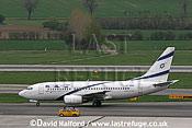 Boeing B.737-758 (4X-EKD) of El Al taxying at Flughafen Wien, Vienna's Schwechat Airport, Austria / April 2005