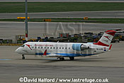 Bombardier CL.600-2B19-CRJ-100LR (OE-LRG) of Austrian Arrows taxying at Flughafen Wien, Vienna's Schwechat Airport, Austria / April 2005