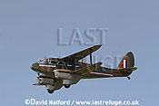De Havilland D.H.89 Dragon Rapide (G-AGJG) taking off, Imperial War Museum (IWM), Duxford, U.K. / UK