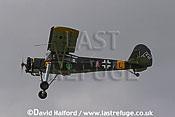 Fieseler Fi.156 Storch (TA+RC) flying, Imperial War Museum (IWM), Duxford, U.K. / UK - 2004