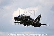 BAe Systems Hawk T.1 (CO) of 100 Squadron, RAF taking off, Imperial War Museum (IWM), Duxford, U.K. / UK / June 2005