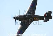 Hawker Hurricane Mk.I (R4118) (owned by Peter Vacher) flying, Imperial War Museum (IWM), Duxford, U.K. / UK / June 2005