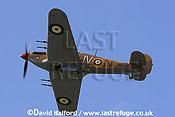 Hurricane Mk.IV (KZ321) flying, Imperial War Museum (IWM), Duxford, U.K. / UK / June 2005