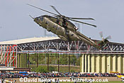 AgustaWestland Merlin HC.3 (ZJ127) flying, Imperial War Museum (IWM), Duxford, U.K. / UK - June 2005