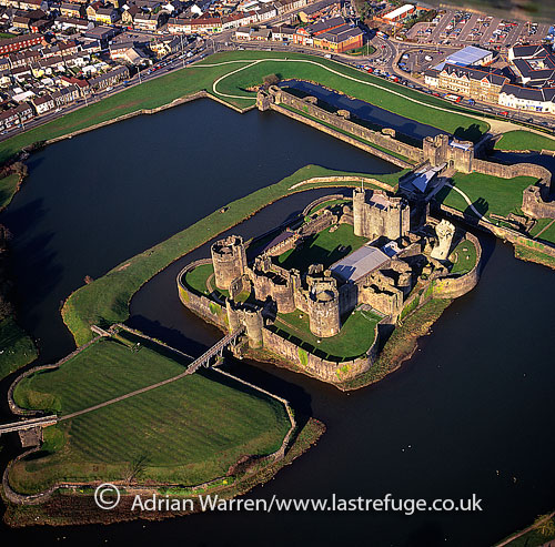 Caerphilly Castle, Norman castle, Caerphilly, Gwent, south Wales