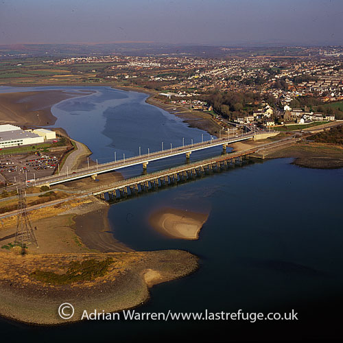Loughor, bridge over river Loughor, Swansea, GlamorganSouth Wales, England