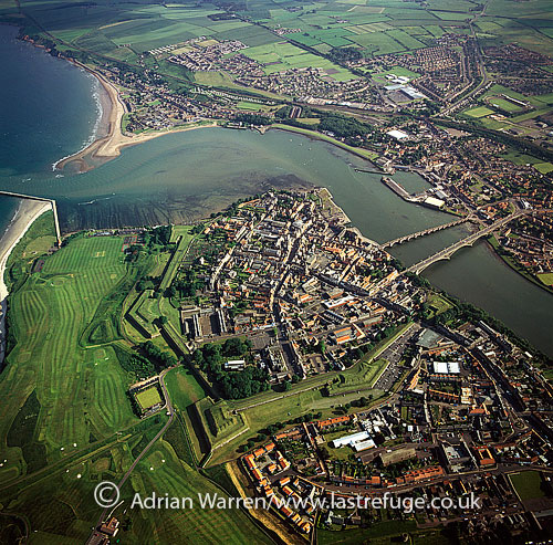 Berwick-upon-Tweed, Northumberland, the northernmost town in England, on the mouth of the river Tweed, England