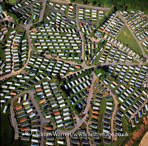 Caravan Parks at Sandy Bay, near Exmouth, Devon, England