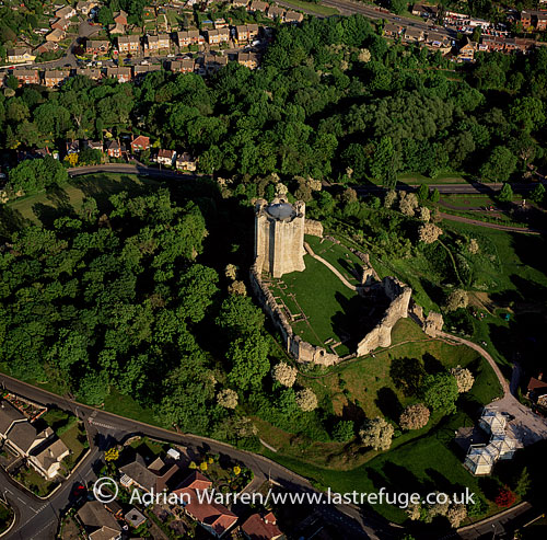 Conisbrough Castle is a castle in the town of Conisbrough near Doncaster, South Yorkshire, England