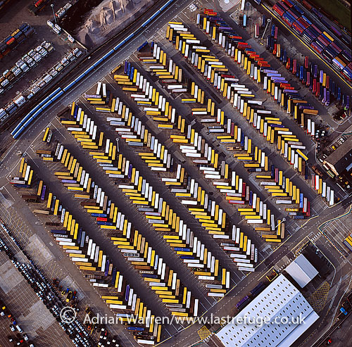Shipping containers at Puefleet, Essex, England