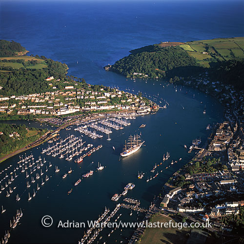 Dartmouth, on the banks of the estuary of River Dart, Devon, England